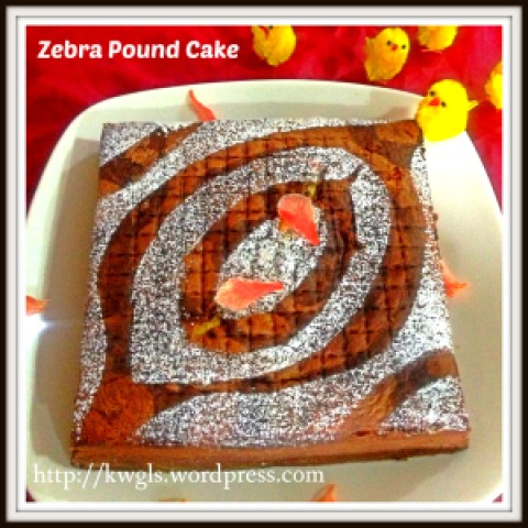 Hey, My Chick Want To Eat My Zebra Pound Cake !