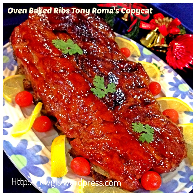 Xmas Dinner In Small Oven: Having Oven Baked Ribs For Christmas Dinner? Tony Roma's