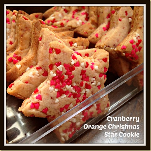... Bake Your Christmas Cookies–Cranberry Orange Christmas Star Cookies