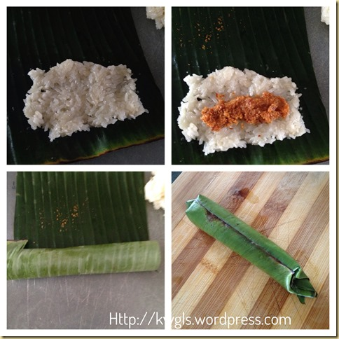 Grilled Glutinous Rice Package–Pulut Panggang ( 糯米虾米卷)