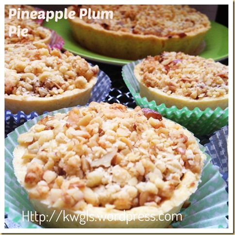 Some Tangy Pie For You?– Pineapple Plum Pie (凤梨李子派)