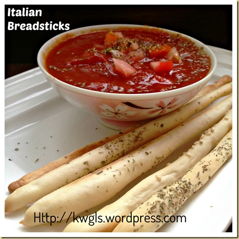 Bread In A Stick?–Italian Breadsticks (意大利面包条)