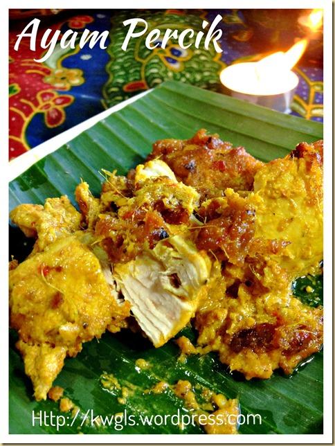 Grilled Coconut Spiced Chicken (Ayam Percik or Ayam Golek