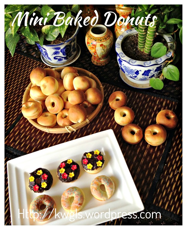 Baked Is Healthier… Isn't It? Mini Baked Donuts (迷你甜甜圈 ...