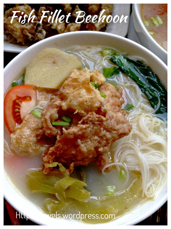 Fish head fillet rice vermicelli soup guai shu shu for Fish head recipe