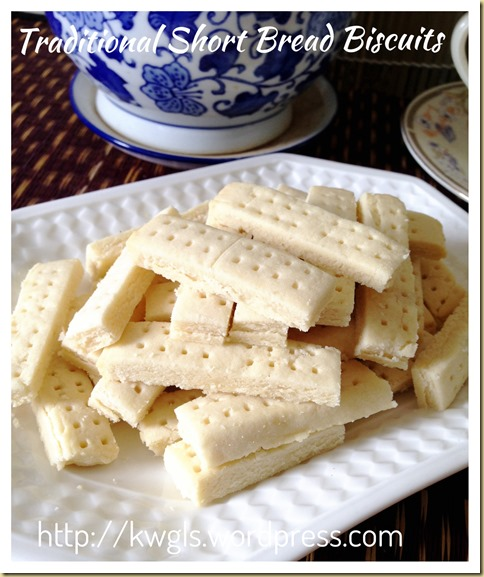 One, Two, Three…….Let's Start Making Traditional Short Bread Biscuits (英式传统牛油饼干)