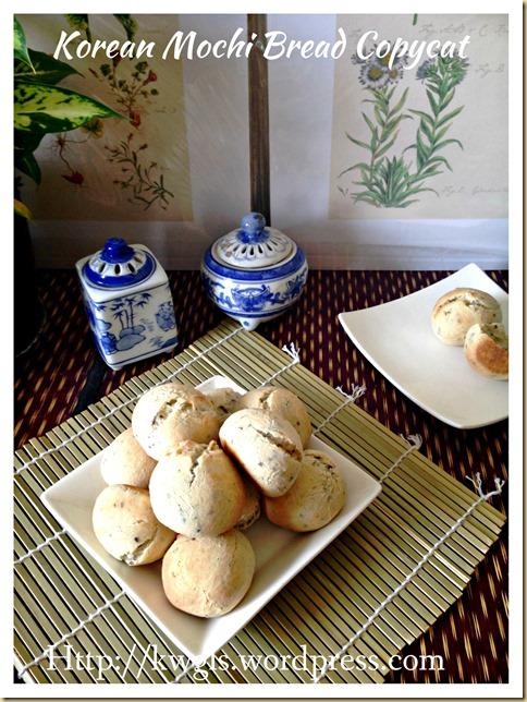 Let's Prepare Mochi Bread From Scratch–Korean Black Sesame Mochi Bread (韩国黑芝麻麻糬面包)