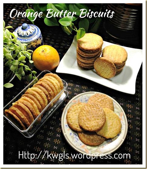 Orange Butter Cookies (香橙牛油饼干)
