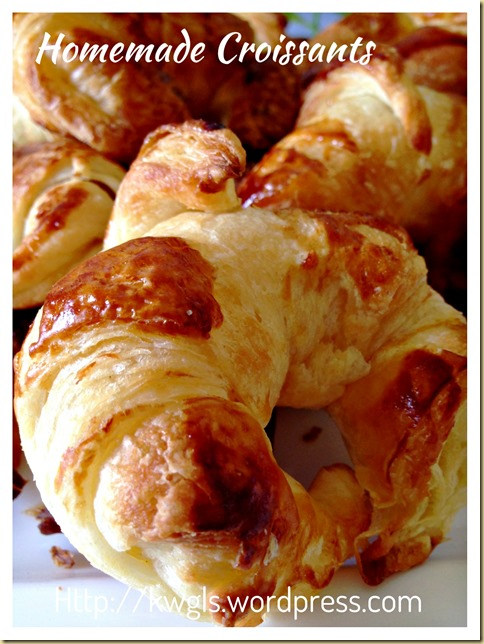 Home Made Croissants (家居自制牛角包)