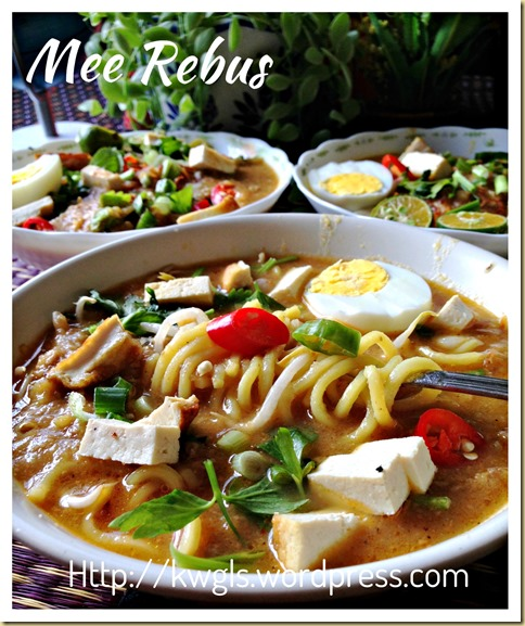 Noodles In Sweet Potatoes Gravy–Mee Rebus (马来卤面)