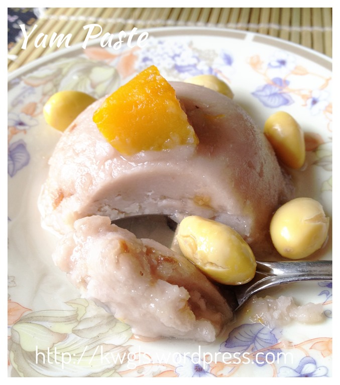 Or Nee is an authentic traditional Teochew desserts using yam or taro ...