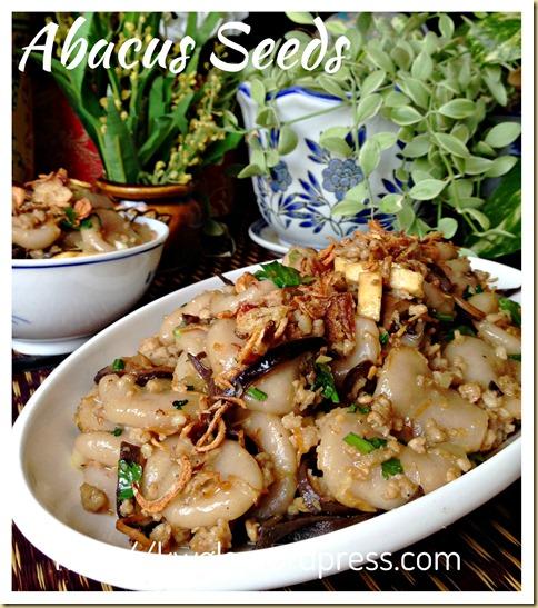 An auspicious hakka dish hakka abacus seeds beads for Abacus cuisine of china