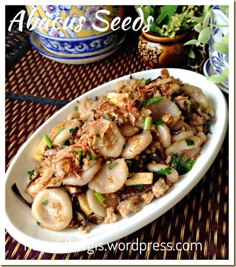 An Auspicious Hakka Dish–Hakka Abacus Seeds/Beads (客家算盘子)
