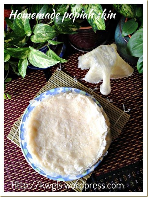 Homemade Spring Roll Crepes–Popiah Skin (春卷皮,薄饼皮, 润饼皮)