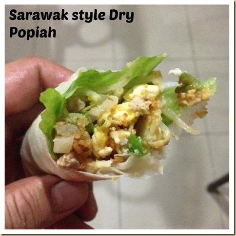 Malaysian Singaporean Chinese Food–Popiah Sarawak Style (干式薄饼)