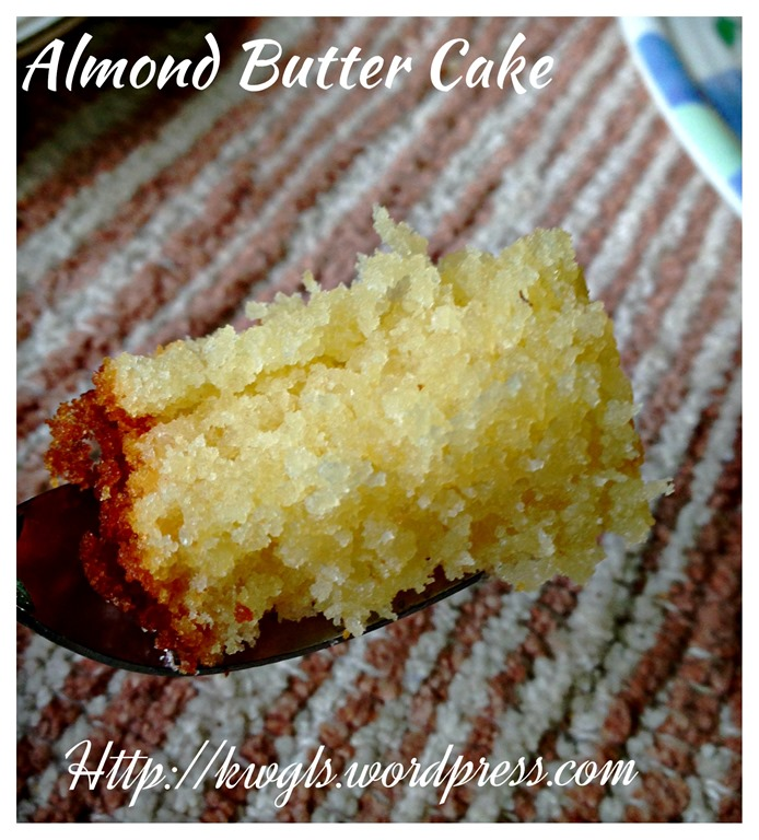 Moist almond butter cake recipe
