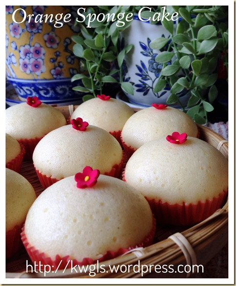 Why Not Use Your Mandarin Oranges To Prepare Some Breakfast? –Mandarin Orange Steamed Sponge Cake (芦柑鸡蛋糕)
