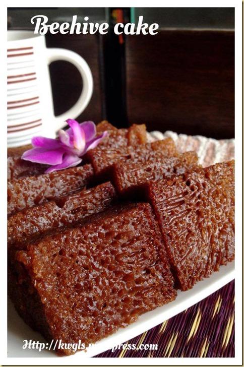 Kek Sarang Semut (2) –Malaysian Beehive Cake or Honeycomb Cake (蜂窝蛋糕)