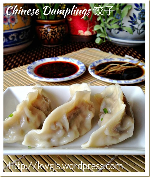 Let's Not Have Rice Today–Chinese Dumplings or Jiaozi (包菜饺子)