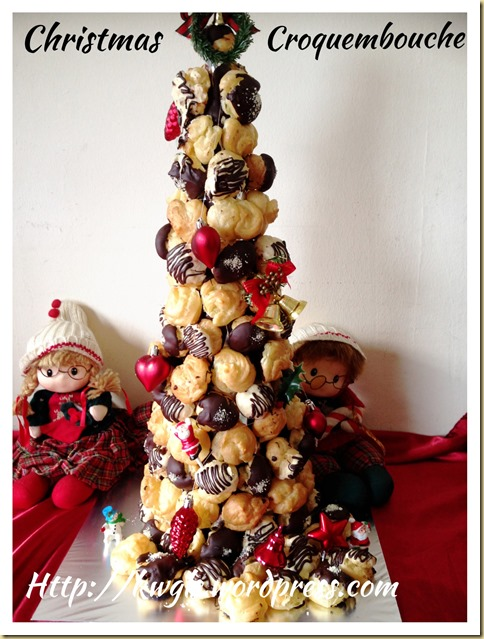 Another Profiteroles Bake - Christmas Croquembouche (圣诞泡芙塔)