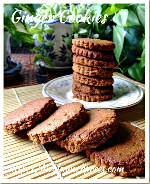 Old Fashion Ginger Cookies (古早味姜香饼干)