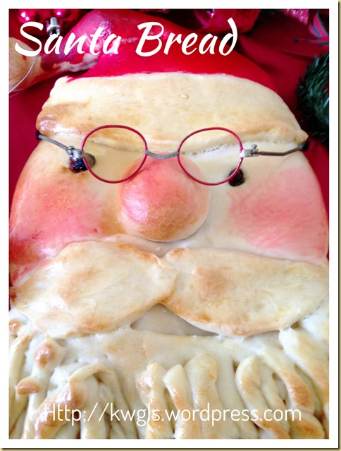 I Failed To Do Proper Make Up For My Santa–Santa Bread (圣诞老人面包)