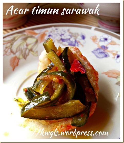Sarawak Pickled Cucumber – Acar Timum Sarawak