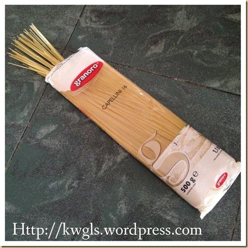 Shrimp Angel Hair Pasta With Cream Sauce (海虾白酱意大利天使面)