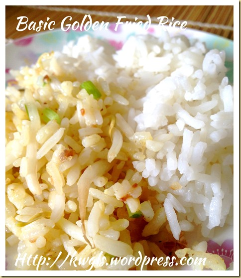 Basic Golden Fried Rice (黄金炒饭)