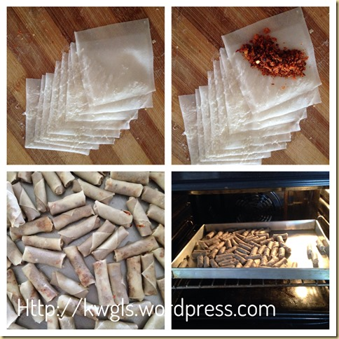 Shrimp Floss Rolls aka Sambal Udang Kering Mini Rolls (虾米卷)