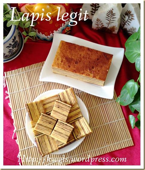 Authentic Lapis Legit (Spekkoek 印尼千层蛋糕)