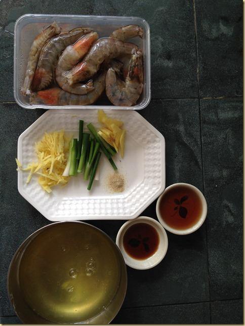 Egg White Steamed Prawns (蛋白蒸虾)