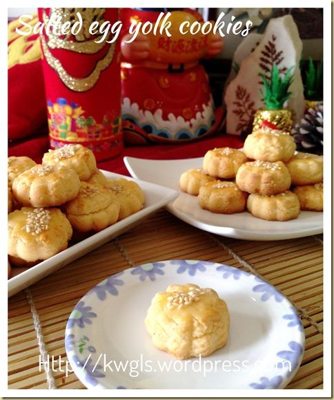 Salted Egg Yolk Cookies (蛋黄酥饼)