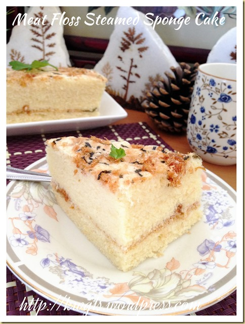 Meat Floss Steamed Sponge Cake (肉松鸡蛋糕)