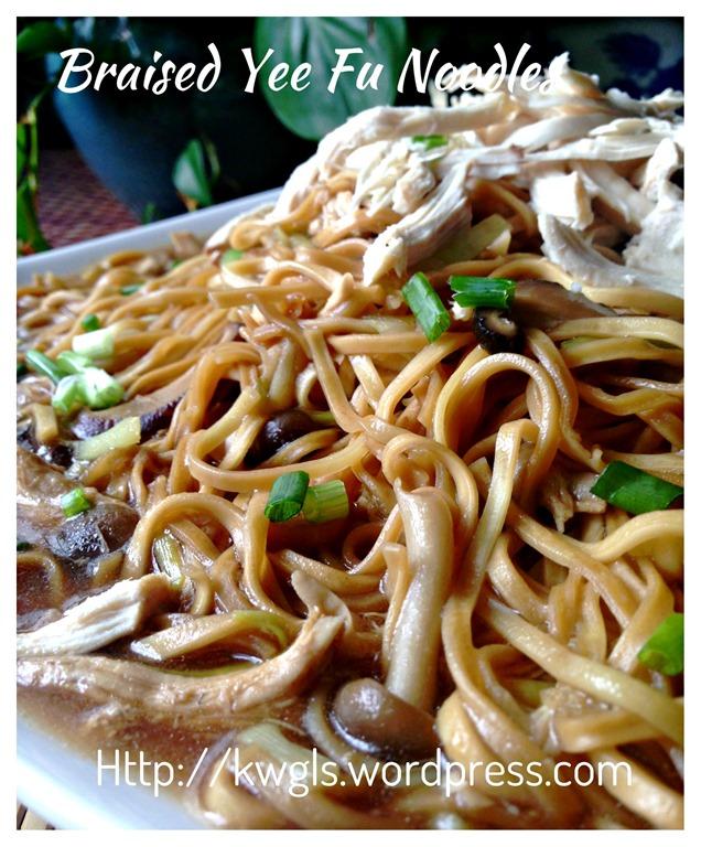 Shredded Chicken Braised E Fu Noodles 鸡丝韭黄伊府面 Guai Shu Shu