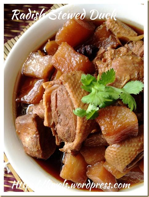 Radish Stewed Duck (白萝卜焖鸭)