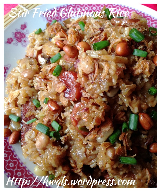 Stir fried glutinous rice dish guai shu shu it is definitely not easy to stir fry glutinous rice over a wok and stove as glutinous rice is sticky and it had a tendency to get burnt if not properly ccuart Choice Image