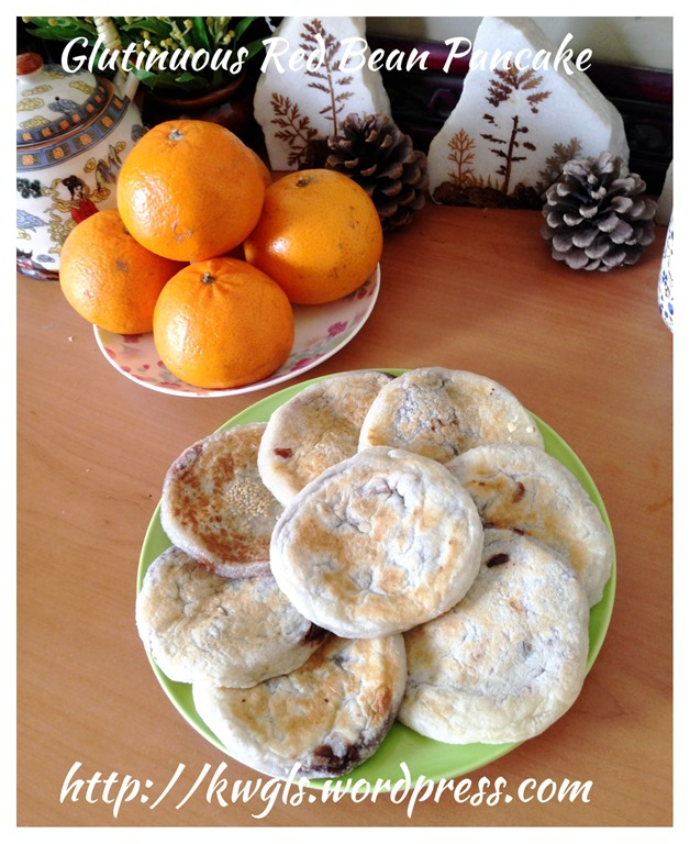 Glutinous rice flour red bean pancake guai i am pleased with this attempt and the only disappointment is the sweetness of the ready made red bean paste purchased from the store ccuart Choice Image