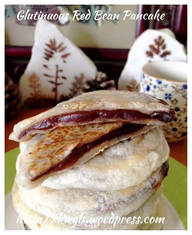Glutinous rice flour red bean pancake guai shu shu urge to prepare it since it is easy to prepare and looks delish the exterior looks crispy but it is soft because of the use of glutinous rice flour ccuart Images