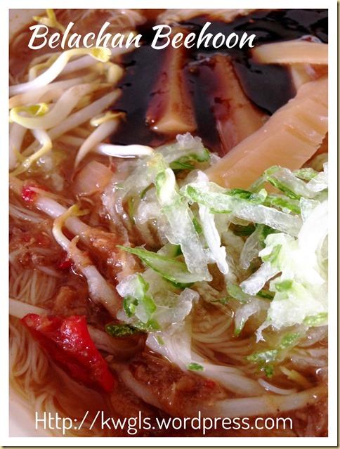 Belachan Bee Hoon (虾酱米粉)