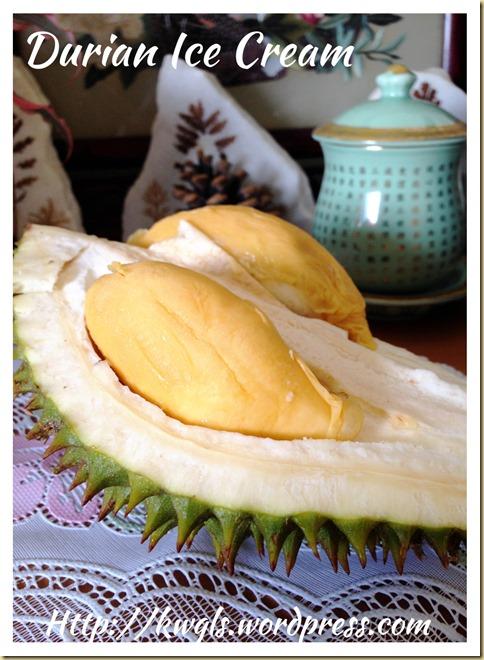 Durian Ice Cream (榴莲冰淇淋)