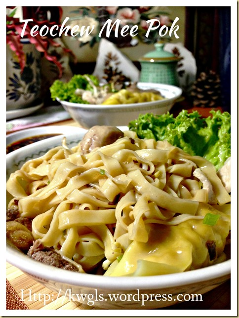 Teochew Mee Pok And Fish Ball Noodles (潮州肉脞面 ,潮州鱼圆面)
