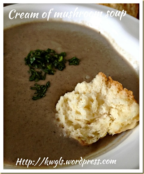 Cream of Mushroom Soup (蘑菇汤)