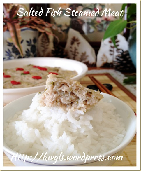 Salted Fish/Mei Cai Steamed Meat (咸鱼/梅菜蒸肉饼)