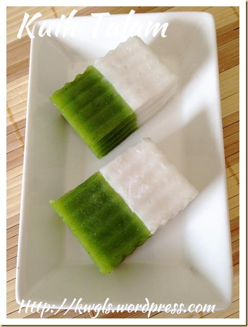 Kuih Talam , Kuih Talam Tepong Pandan (绿白双层香兰糕)