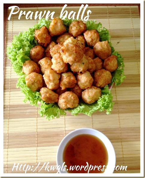 Deep Fried Prawn Balls (干炸虾枣)