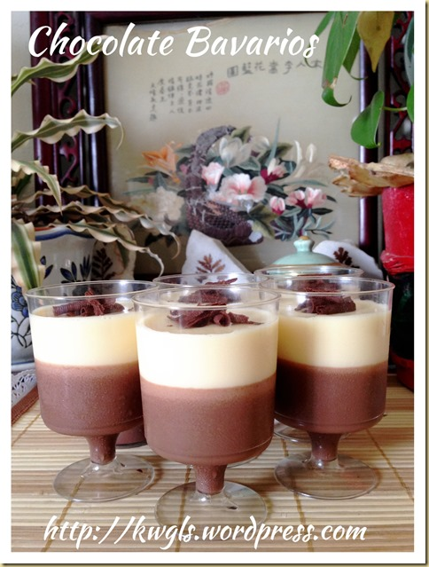 Double Chocolate Bavarian Cream or Bavarois (双巧克力慕斯杯)