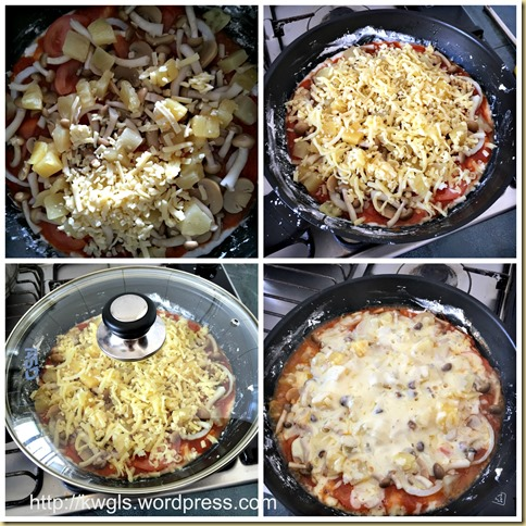 Stove Top Pizza or Skillet Pizza (煎锅比萨饼)