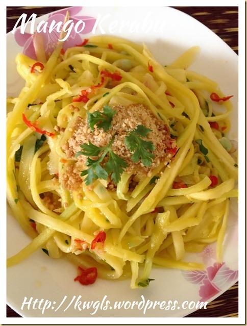 Mango Salad Appetizer or Kerabu Mangga (酸辣芒果开胃菜)
