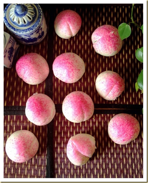 Longevity Peach Buns (寿桃)